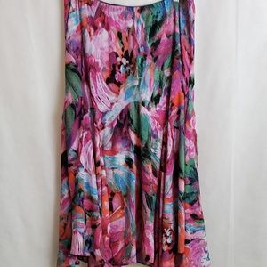 Bob Mackie Wearable Art Floral Multi-color Skirt